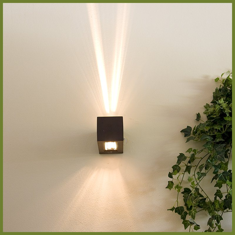wandleuchte wandlampe lampen au enlampe up and down ip54. Black Bedroom Furniture Sets. Home Design Ideas