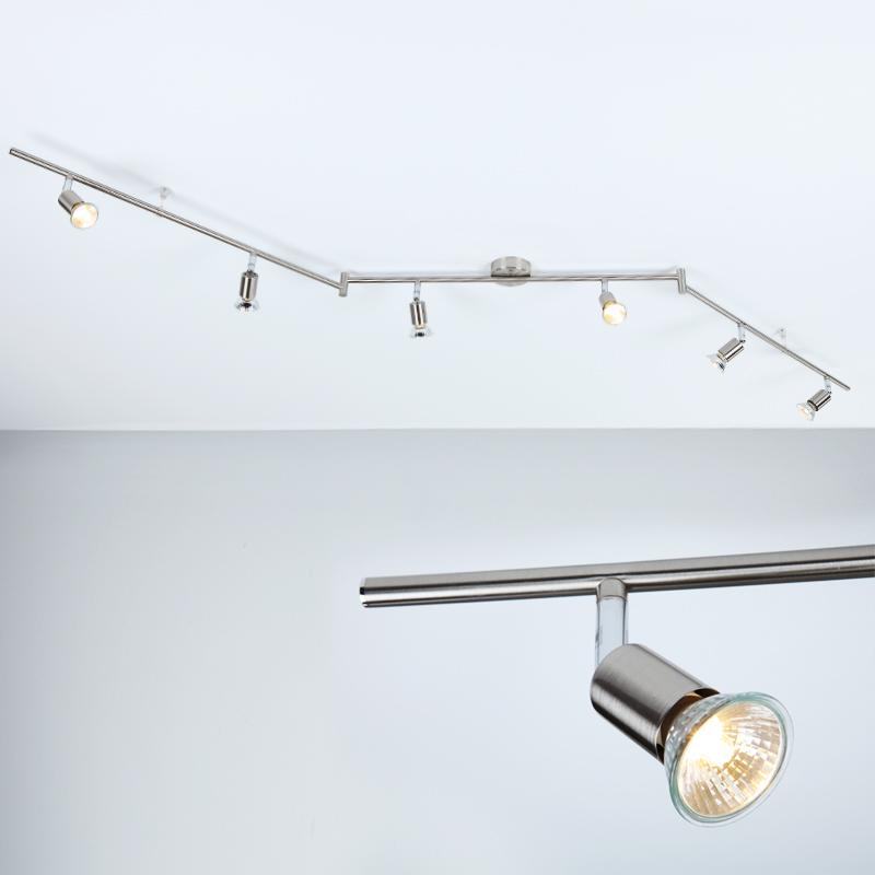 led deckenstrahler deckenspot strahler spot 1 6 flammig lampen leuchten neu ebay. Black Bedroom Furniture Sets. Home Design Ideas