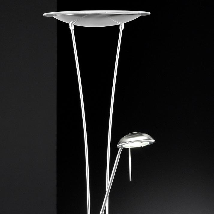 led fluter deckenfluter dimmer stehleuchte lampe leselampe. Black Bedroom Furniture Sets. Home Design Ideas