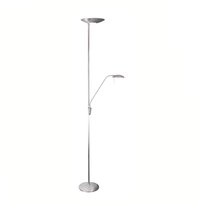 Led torchiere floor lamp with reading arm flood lamps for Best led floor lamp for reading