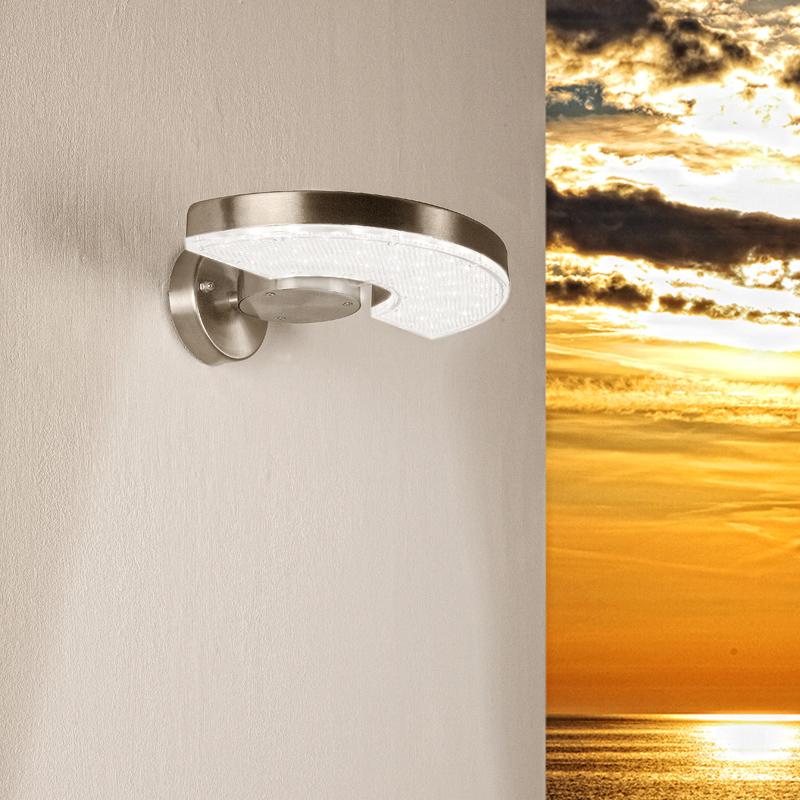 wandleuchte wandlampe led leuchten lampen edelstahl tageslicht beleuchtung neu ebay. Black Bedroom Furniture Sets. Home Design Ideas