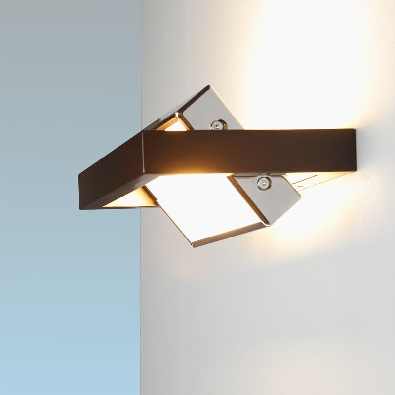 wandleuchte wandlampe schwenkbar modern holz chrom lampe leuchte beleuchtung neu ebay. Black Bedroom Furniture Sets. Home Design Ideas