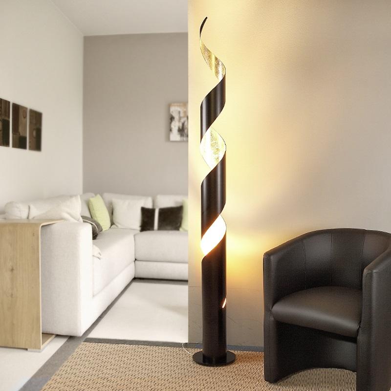 Beautiful Charismatische Stehleuchte   Innen Gold   Außenfarbe Wählbar Schwarz Oder  Weiß