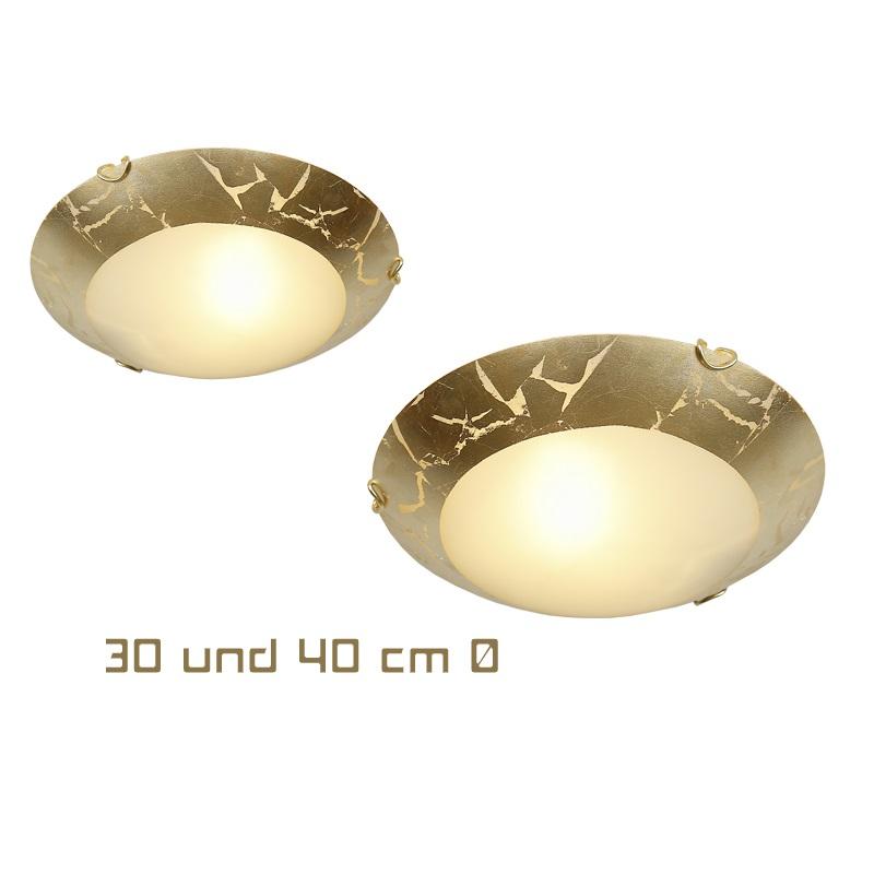 deckenleuchte deckenlampe rund gold antik klassisch lampe beleuchtung glas neu ebay. Black Bedroom Furniture Sets. Home Design Ideas