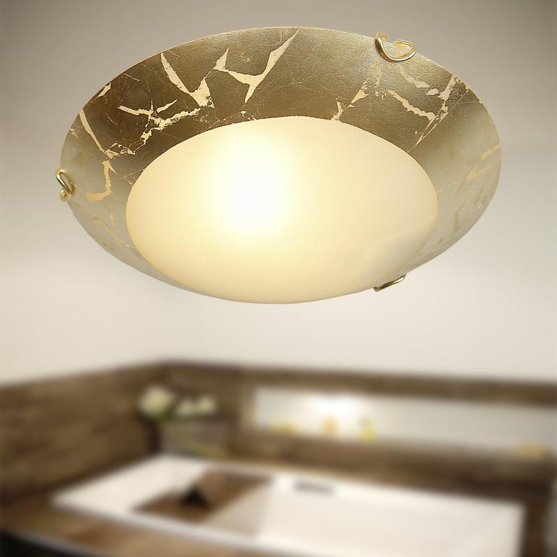 Deckenleuchte Deckenlampe Rund Gold Antik Klassisch Lampe
