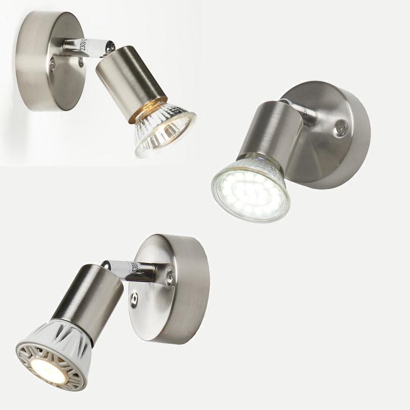 wandleuchte wandstrahler deckenstrahler 1 flammig led halogen lampen leuchten ebay. Black Bedroom Furniture Sets. Home Design Ideas