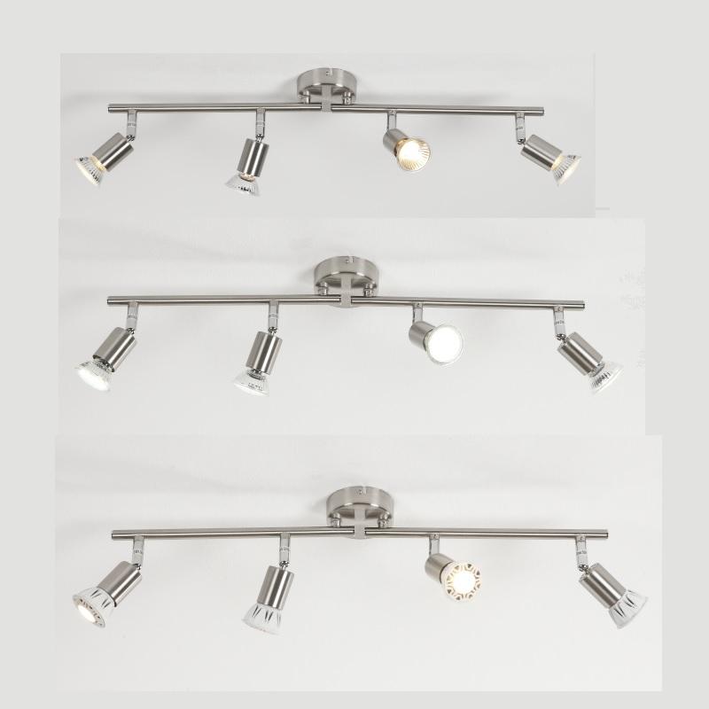 strahler wandstrahler deckenstrahler 4 flammig led halogen lampe leuchte neu. Black Bedroom Furniture Sets. Home Design Ideas