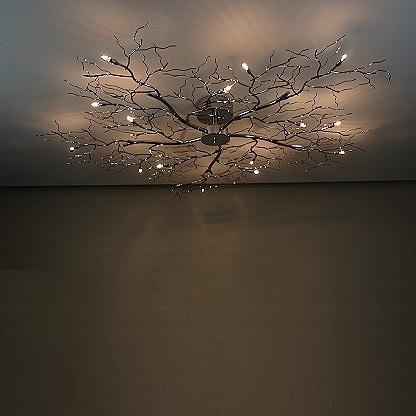 Ceiling Lamp Tree Lamp Chrome Ceiling Light Halogen Branch