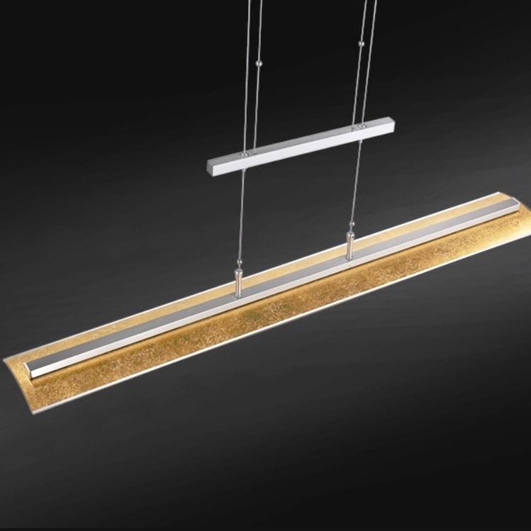 led zugpendelleuchte pendellampe blattgold lampe leuchte glas beleuchtung neu ebay. Black Bedroom Furniture Sets. Home Design Ideas