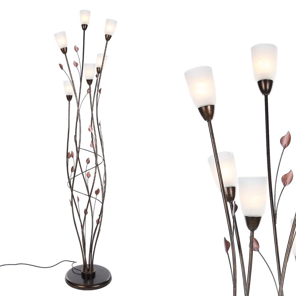 stehleuchte florentiner standlampe stehlampe glas lampen leuchten design neu ebay. Black Bedroom Furniture Sets. Home Design Ideas
