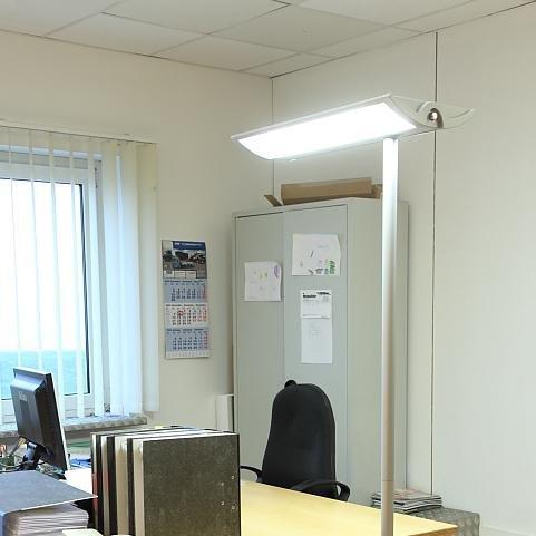 stehleuchte standlampe b ro lampe leuchte schreibtisch arbeitsplatz beleuchtung ebay. Black Bedroom Furniture Sets. Home Design Ideas