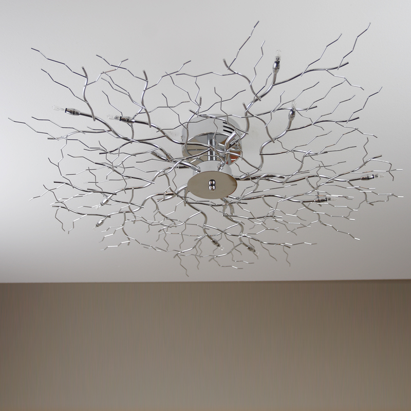 Ceiling Lamp Tree Light Chrome Halogen Branch New