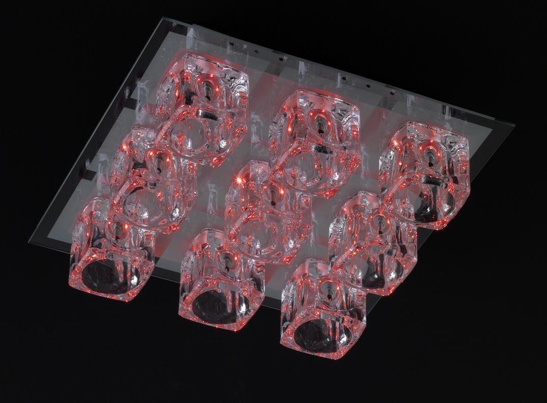 Deckenleuchte Farbwechsel Led Halogen Lampe Glas Leuchte