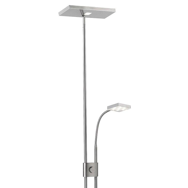 led stehleuchte mit lesearm standfluter deckenfluter dimmer lampe fluter leuchte ebay. Black Bedroom Furniture Sets. Home Design Ideas