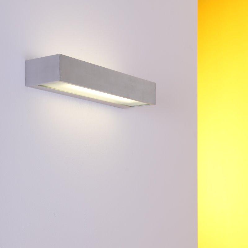 wandleuchte aluminium wandfluter wandlampe energiesparlampe lampen leuchten neu ebay. Black Bedroom Furniture Sets. Home Design Ideas