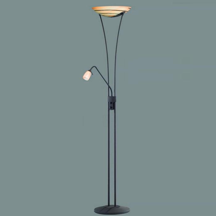 deckenfluter mit lesearm glas fluter stehleuchte standlampe landhausstil dimmbar ebay. Black Bedroom Furniture Sets. Home Design Ideas