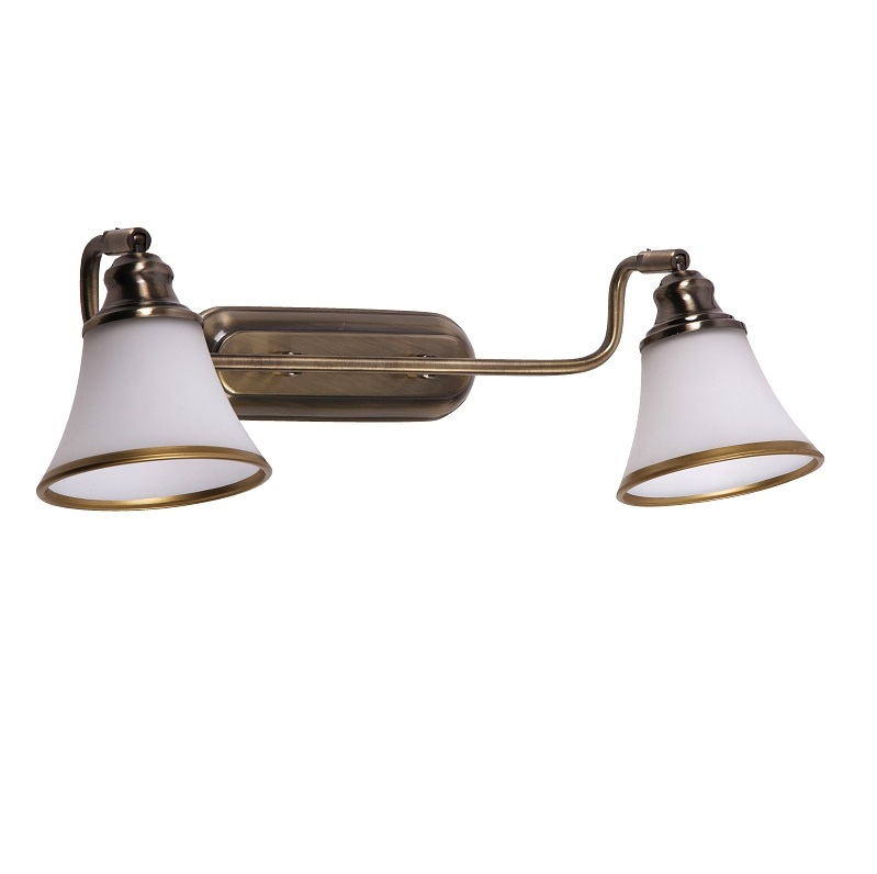 wandleuchte wandlampe 2 flammig messing nostalgie antik landhaus lampe leuchte ebay. Black Bedroom Furniture Sets. Home Design Ideas