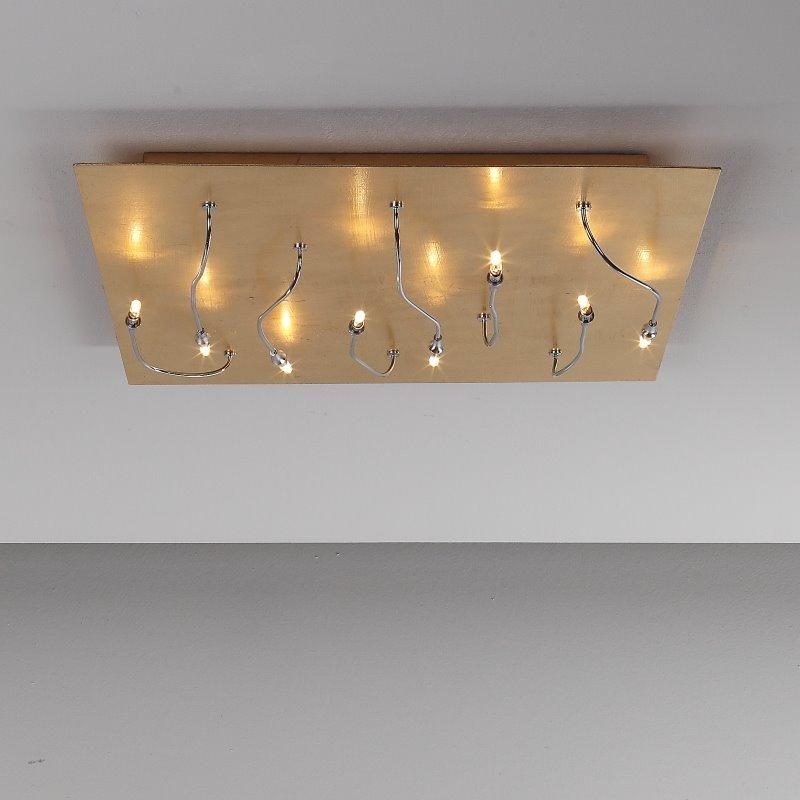 deckenleuchte mit blattgold deckenlampe lichtobjekt 12v g4 lampe leuchte design ebay. Black Bedroom Furniture Sets. Home Design Ideas