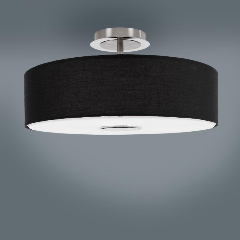 deckenleuchte wohnzimmer esszimmer lampe leuchte stoff lampenschirm neu ebay. Black Bedroom Furniture Sets. Home Design Ideas