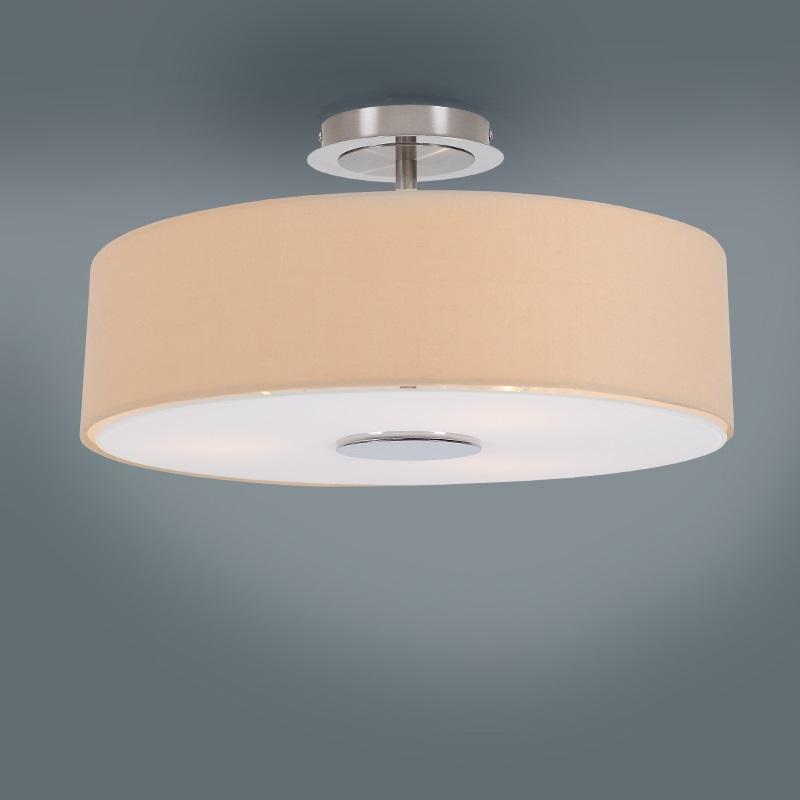 Lampada Da Soffitto Luce Paralume Illuminazione Luci Tessuto Nuovo  eBay