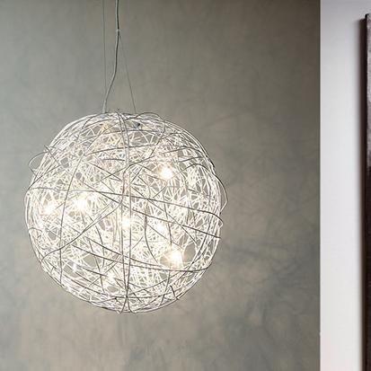 pendelleuchte deckenleuchte drahtgeflecht kugelleuchte pendel leuchte lampe ebay. Black Bedroom Furniture Sets. Home Design Ideas