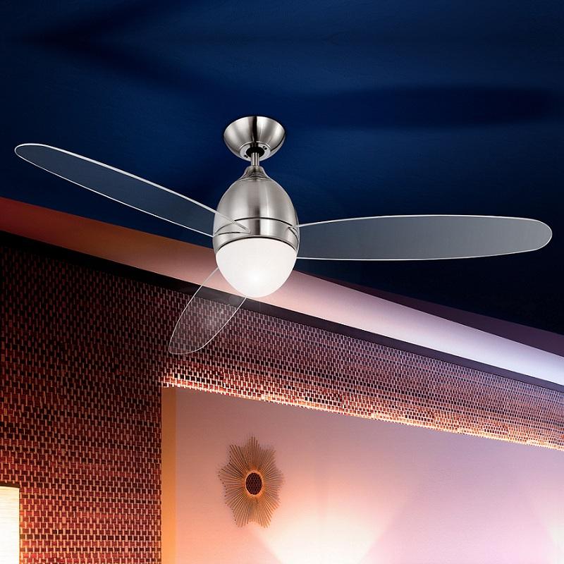 ventilateur de plafond illumin t l commande plafonnier luminaire lampe ebay. Black Bedroom Furniture Sets. Home Design Ideas