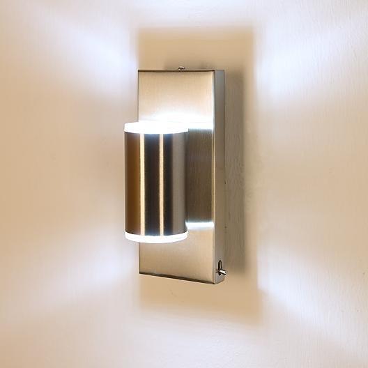 led wandleuchte wandlampe lampen leuchten up down beleuchtung strahler neu ovp ebay. Black Bedroom Furniture Sets. Home Design Ideas