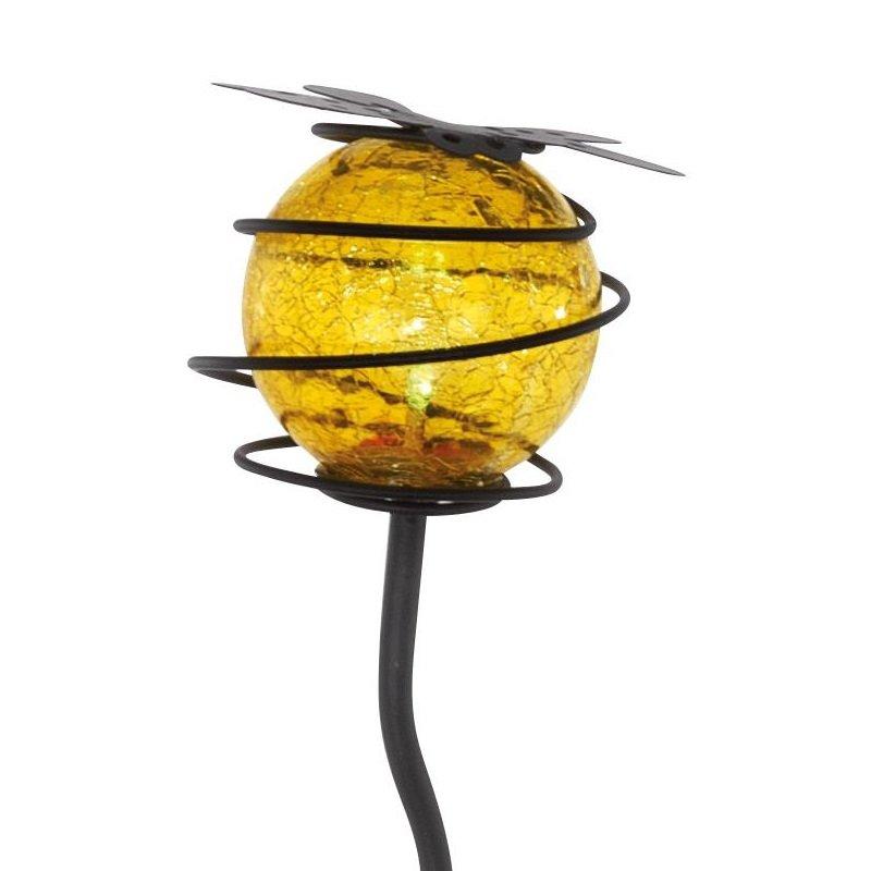 lampe solaire led broche pique boule de verre ext rieure lumi res jardin ebay. Black Bedroom Furniture Sets. Home Design Ideas
