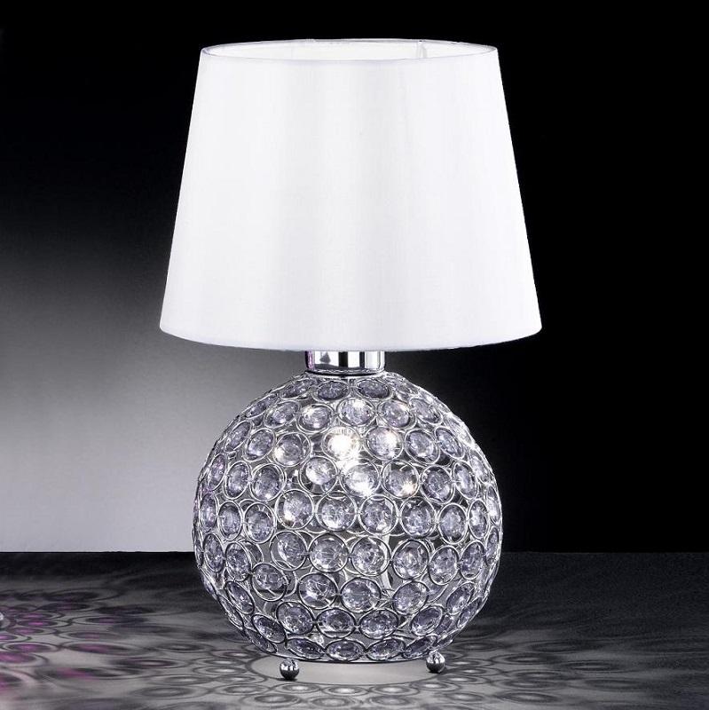 tischleuchte tischlampe kristall blau modern lampe glas leuchte beleuchtung neu ebay. Black Bedroom Furniture Sets. Home Design Ideas