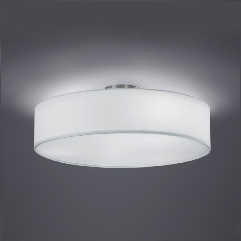 deckenleuchte modern stoffschirm 50cm deckenlampe e27 beleuchtung neu. Black Bedroom Furniture Sets. Home Design Ideas