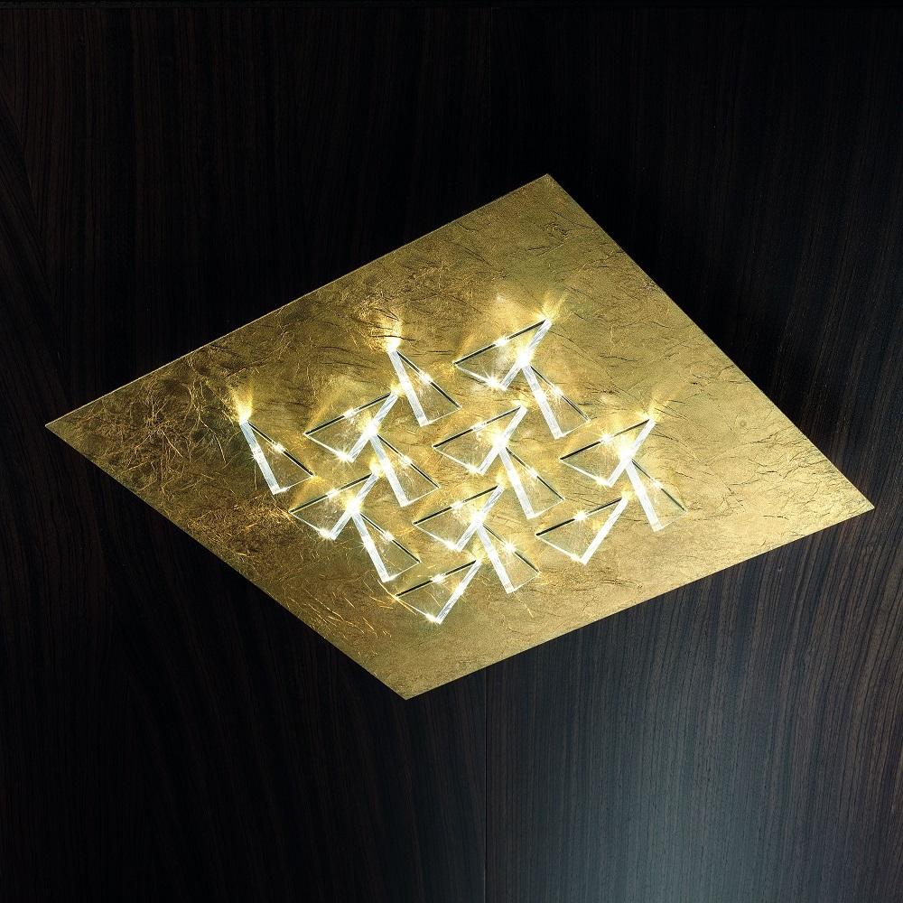 Moderne Italienische Deckenleuchten Deckenleuchte Led Handarbeit Blattgold Design Deckenlampe Lampen