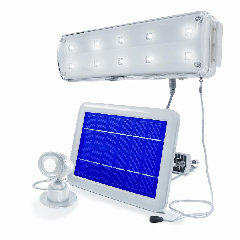 solarleuchte led lichtsystem inkl bewegungsmelder solar lampe leuchte schaltbar. Black Bedroom Furniture Sets. Home Design Ideas