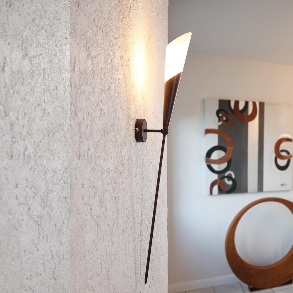 Luce lampada da parete marrone fiaccola e14 60w torcia muro ...