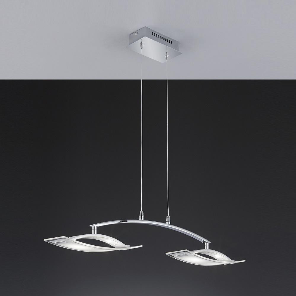 led pendelleuchte chrom glas h ngeleuchte h ngelampe pendellampe lampen leuchten ebay. Black Bedroom Furniture Sets. Home Design Ideas