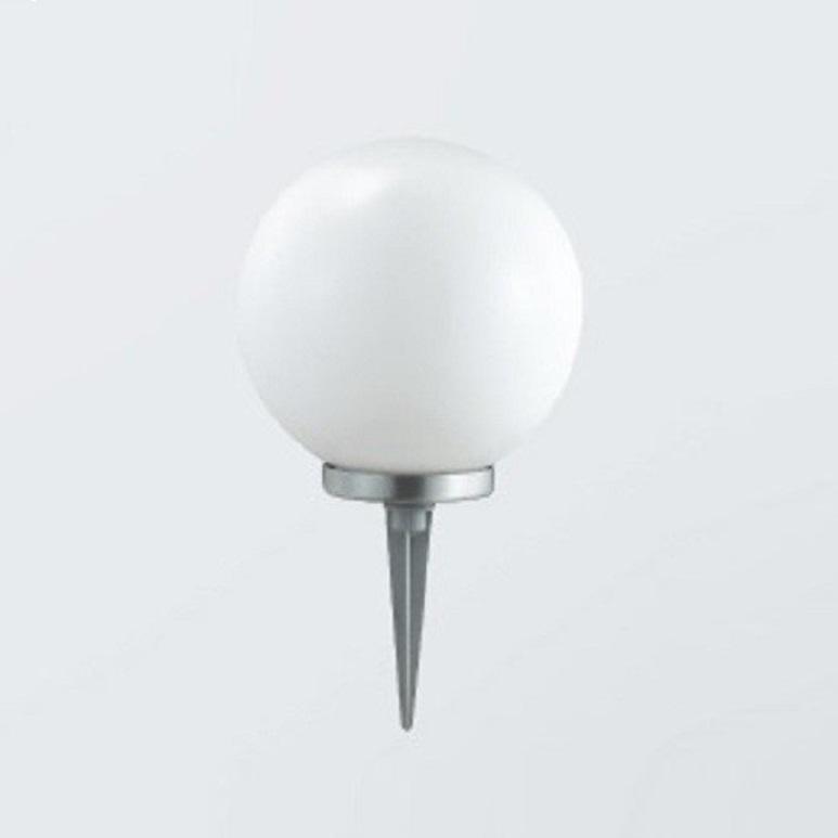 kugelleuchte mit erdspie 25cm edelstahl au en garten lampen leuchten e27 40w ebay. Black Bedroom Furniture Sets. Home Design Ideas
