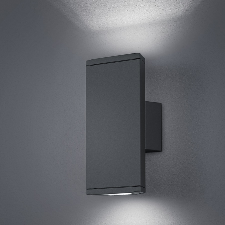 LED Outdoor wall light Anthracite Wall lamp Lighting IP54 Exterior Lights eBay