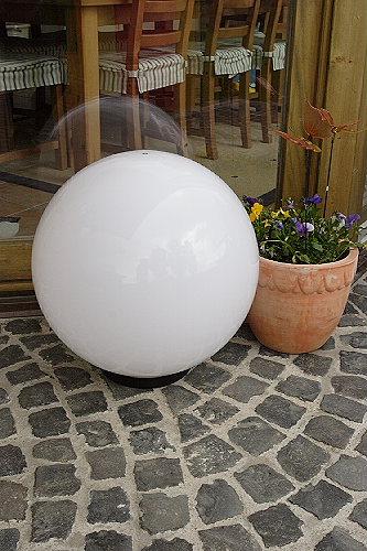 kugelleuchte 40cm kugellampe au en leuchten lampen terrassenleuchten ebay. Black Bedroom Furniture Sets. Home Design Ideas