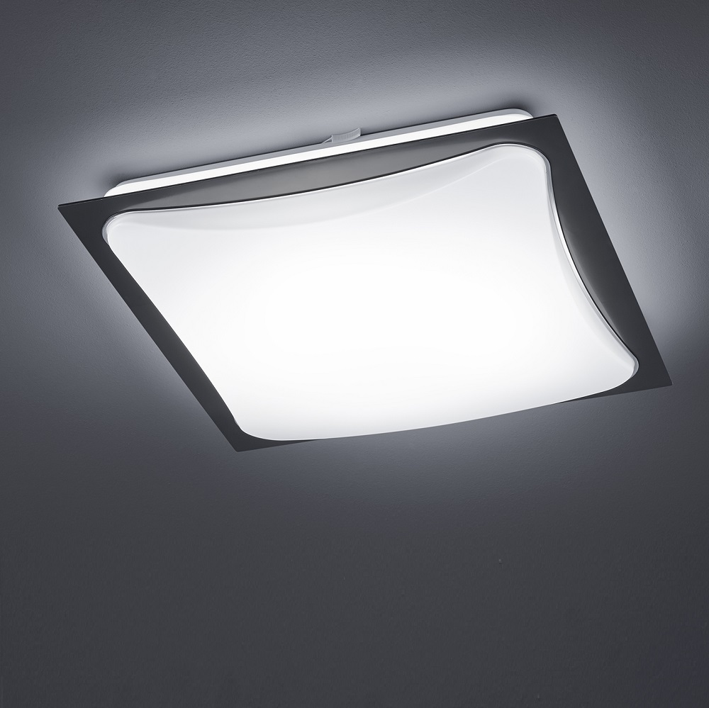 led deckenleuchte schwarz deckenlampe flur treppenhaus licht lampe leuchte 18w ebay. Black Bedroom Furniture Sets. Home Design Ideas
