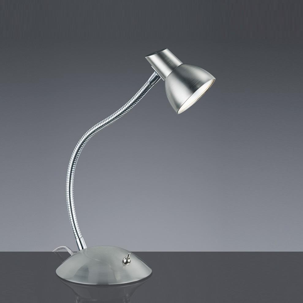 led tisch leuchte nickel matt flexarm schreibtisch beleuchtung b ro lese lampe ebay. Black Bedroom Furniture Sets. Home Design Ideas