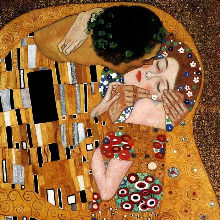 wandleuchte kiss gustav klimt wandlampe leuchten lampen ebay. Black Bedroom Furniture Sets. Home Design Ideas