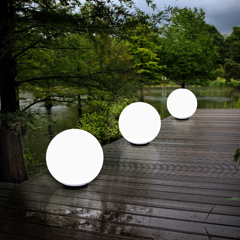 3er set kugelleuchten 50 cm au en lampen leuchten garten. Black Bedroom Furniture Sets. Home Design Ideas