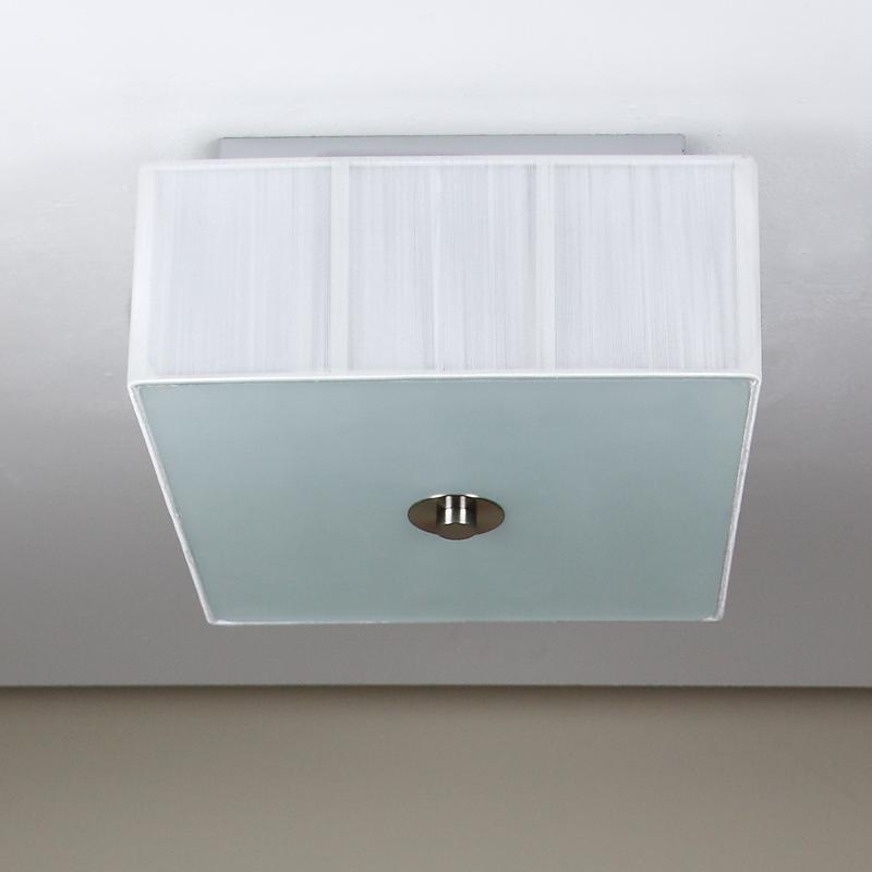 Deckenleuchte Weiß 2x E27 Deckenlampe Leuchte Stofflampe