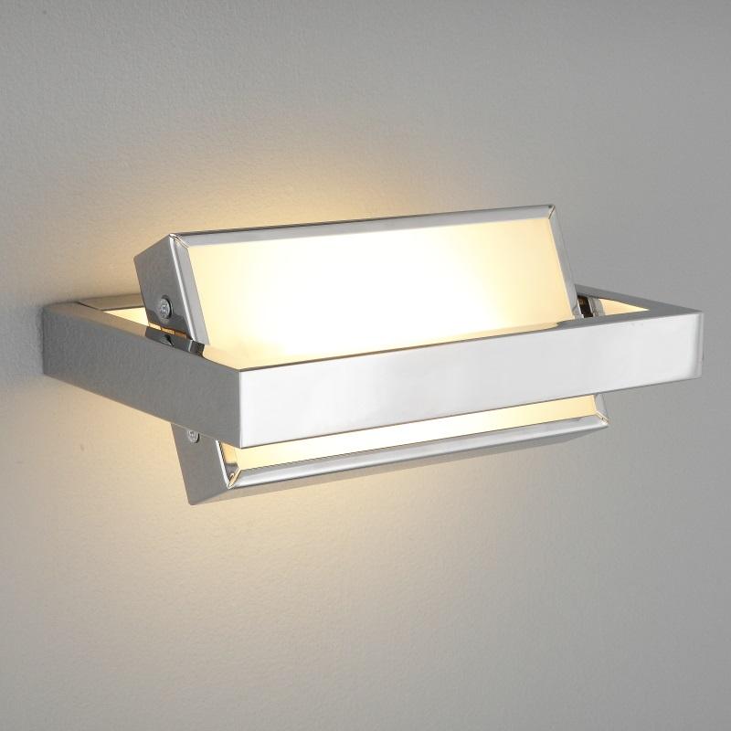 Wandleuchte wandlampe schwenkbar modern holz chrom lampe leuchte beleuchtung neu ebay - Wandlampe schwenkbar ...