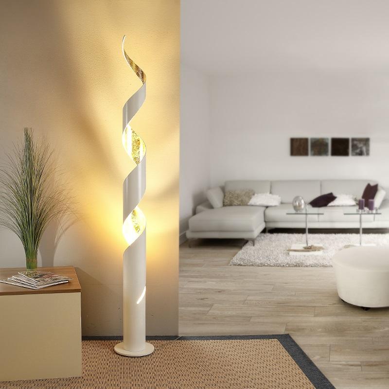 stehleuchte stehlampe design schwarz gold wei dekorativ leuchte beleuchtung neu ebay. Black Bedroom Furniture Sets. Home Design Ideas