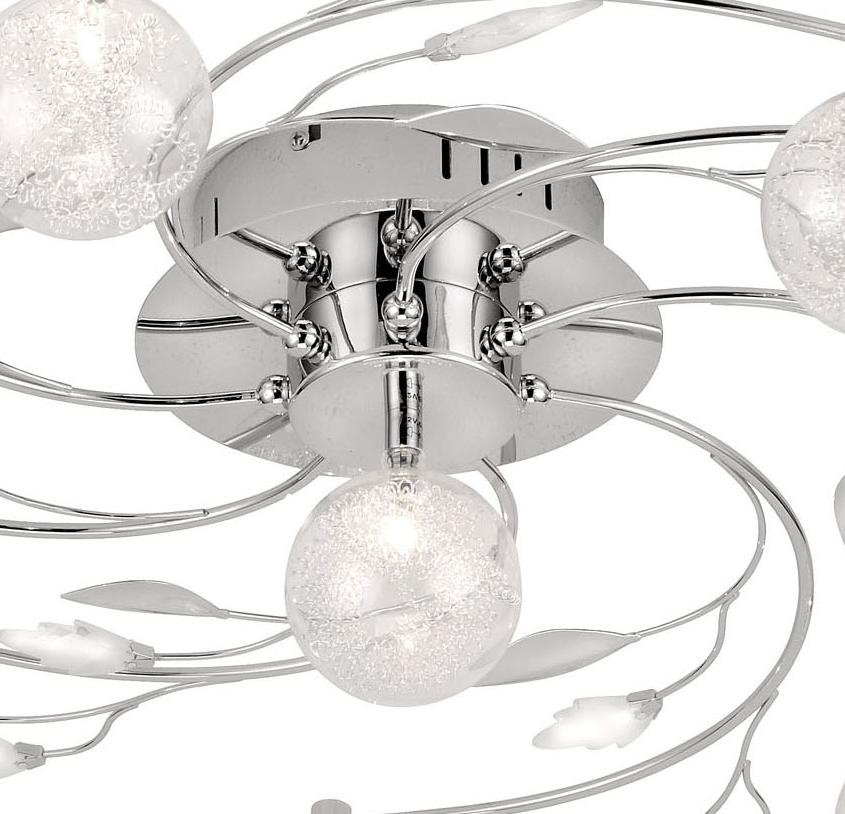 deckenleuchte deckenlampe glas chrom drahtgeflecht. Black Bedroom Furniture Sets. Home Design Ideas