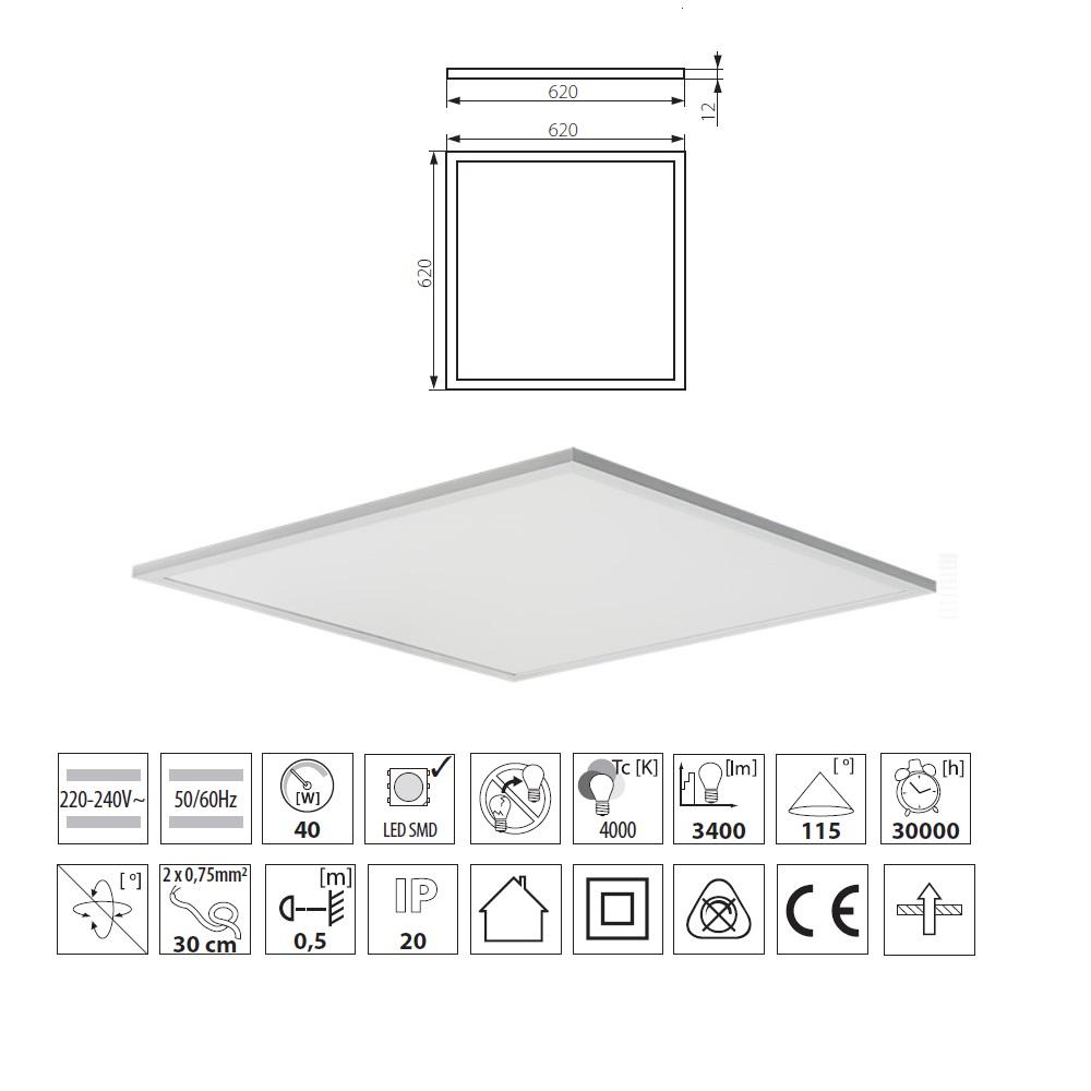 15W LED Decken Lampe rechteckig Chrom Glas Flur Hallen Beleuchtung Leuchte Licht