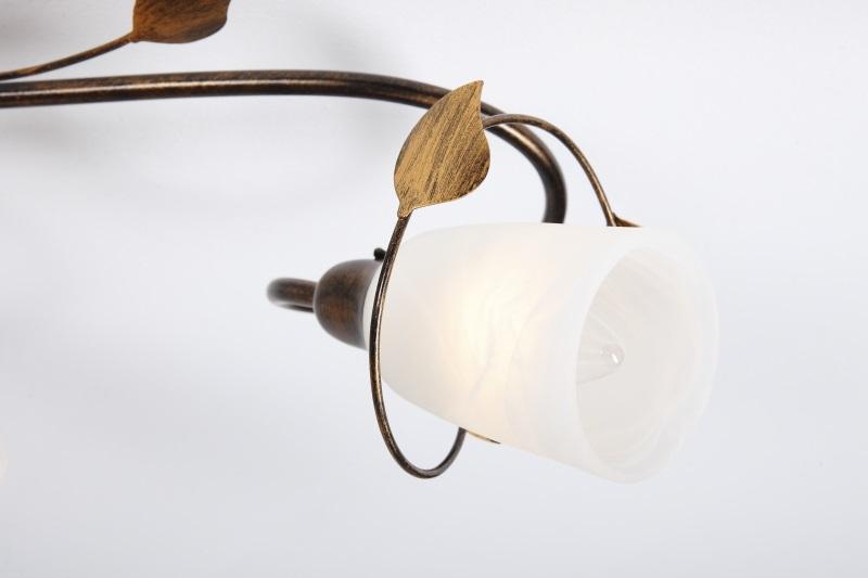 Deckenleuchte 5xE14 Rustikal Antik Gold 5 flammig Deckenlampe ...