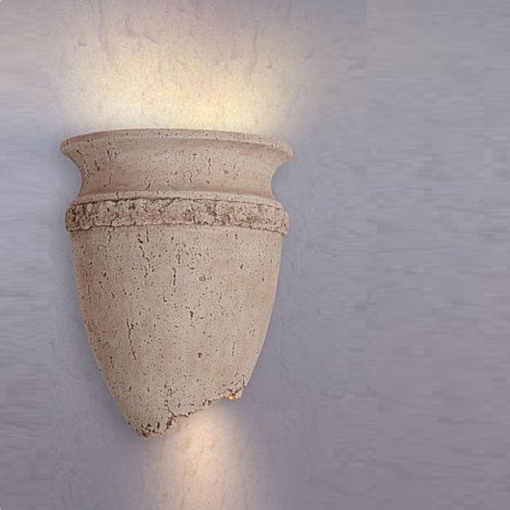 wandleuchte wandlampe amphorenform steinoptik antik lampe leuchte e14 230v. Black Bedroom Furniture Sets. Home Design Ideas