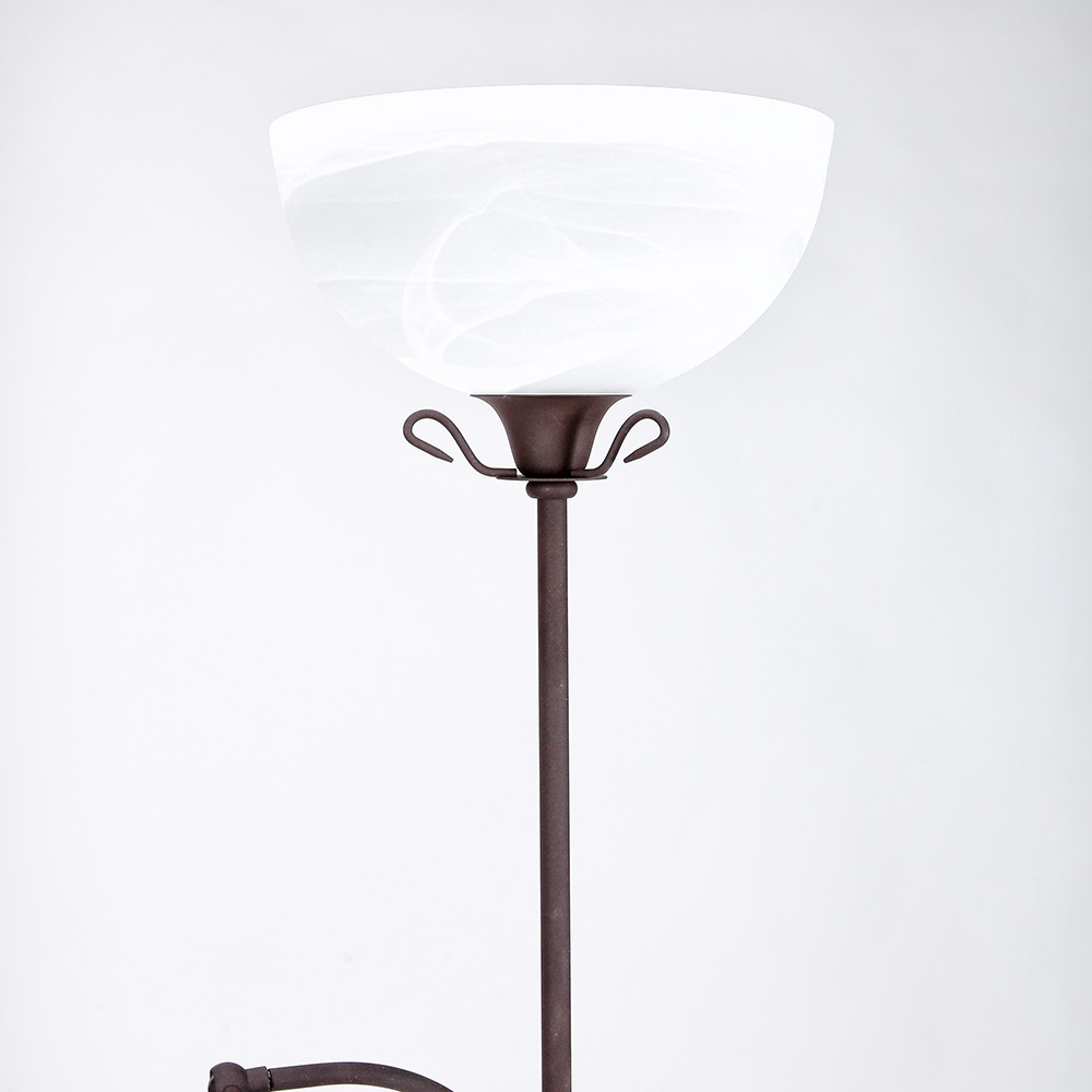 deckenfluter 185cm dimmbar rostfarben fluter lesearm stehleuchte stehlampe ebay. Black Bedroom Furniture Sets. Home Design Ideas