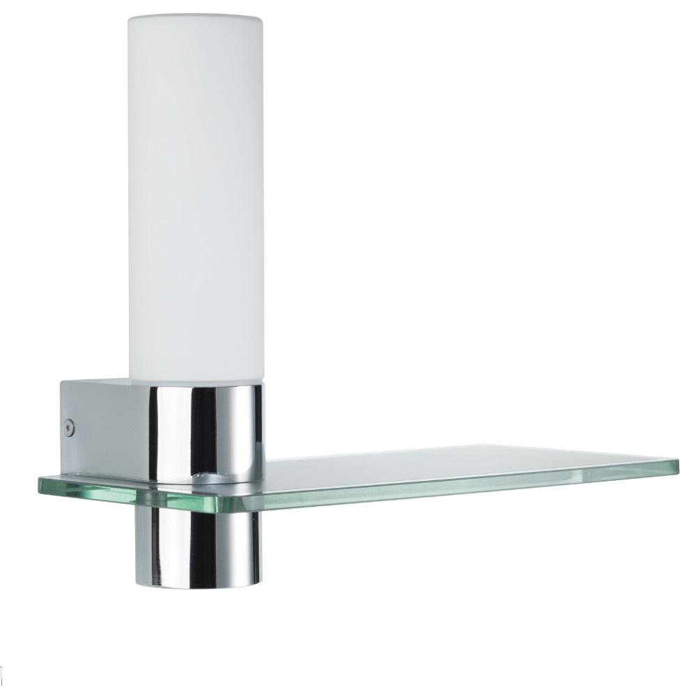 led badezimmer wandleuchte asterion mit glasregal badleuchte wandlampe lampe ebay. Black Bedroom Furniture Sets. Home Design Ideas